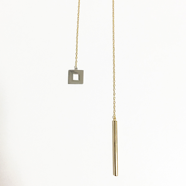 ■square & line necklace■ スクエア&ラインネックレス